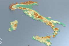 maps with reliefs 4k - Italy